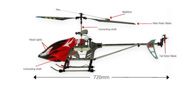 Helicóptero RC X8